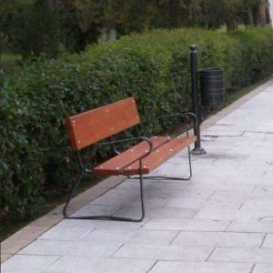 Benches for street and park
